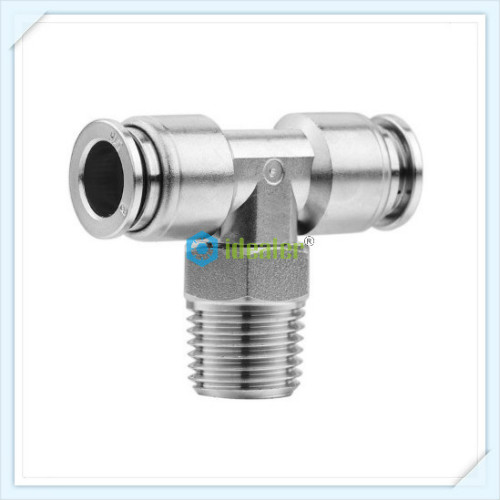 SS316L Male Tee Connector -SSPT